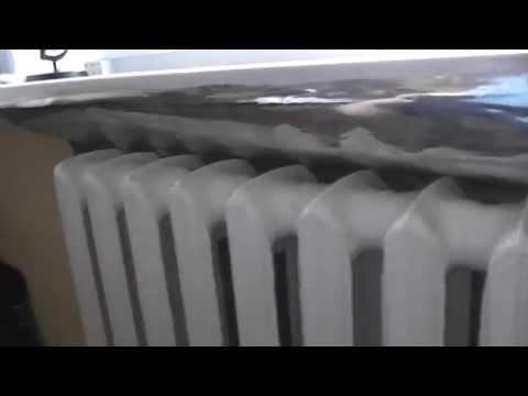 Теплоотражающий экран за радиатором отопления своими руками