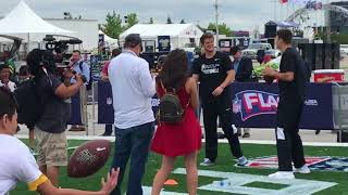 Josh Allen works with kids at NFL Play Football event