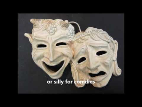 Why did ancient Greeks wear acting masks?