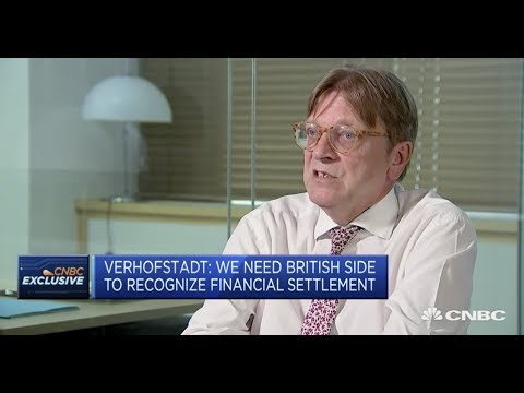 Guy Verhofstadt: We need British side to recognize financial settlement