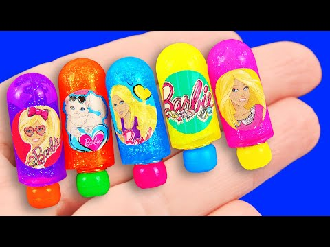 12 DIY Miniature Barbie Hacks and Crafts: makeup, boots, phone, and more!