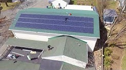 Lake Hopatcong Solar installation on Gym roof