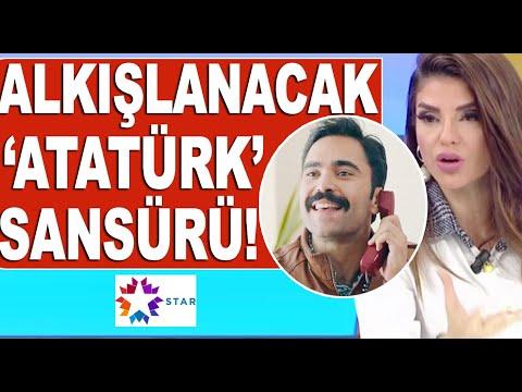 Star TV'de 'Atatürk ölmedi kalbimizde yaşıyor' repliğine sansür