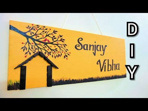 diy-|-awesome-and-unique-home-made-name-plate-|-best-out-of-waste-|-easy-clothespin-diy-projects