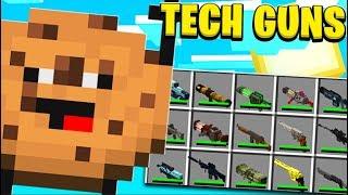 Guass Rifle Cookie Camp *Tech Guns Mod* - Minecraft Modded Minigame | JeromeASF