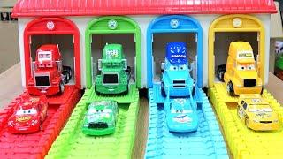 Disney Cars Lightning McQueen Mack Truck Thomas & Friends Tayo Bus Toys Garage