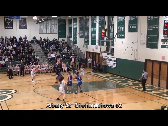 Game Highlights Girls' Varsity: Albany 51 vs Shenendehowa 73 (F)