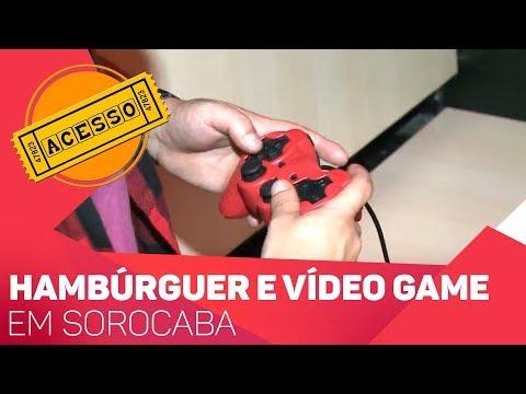 Hambúrguer e Vídeo Game em Sorocaba - TV SOROCABA/SBT