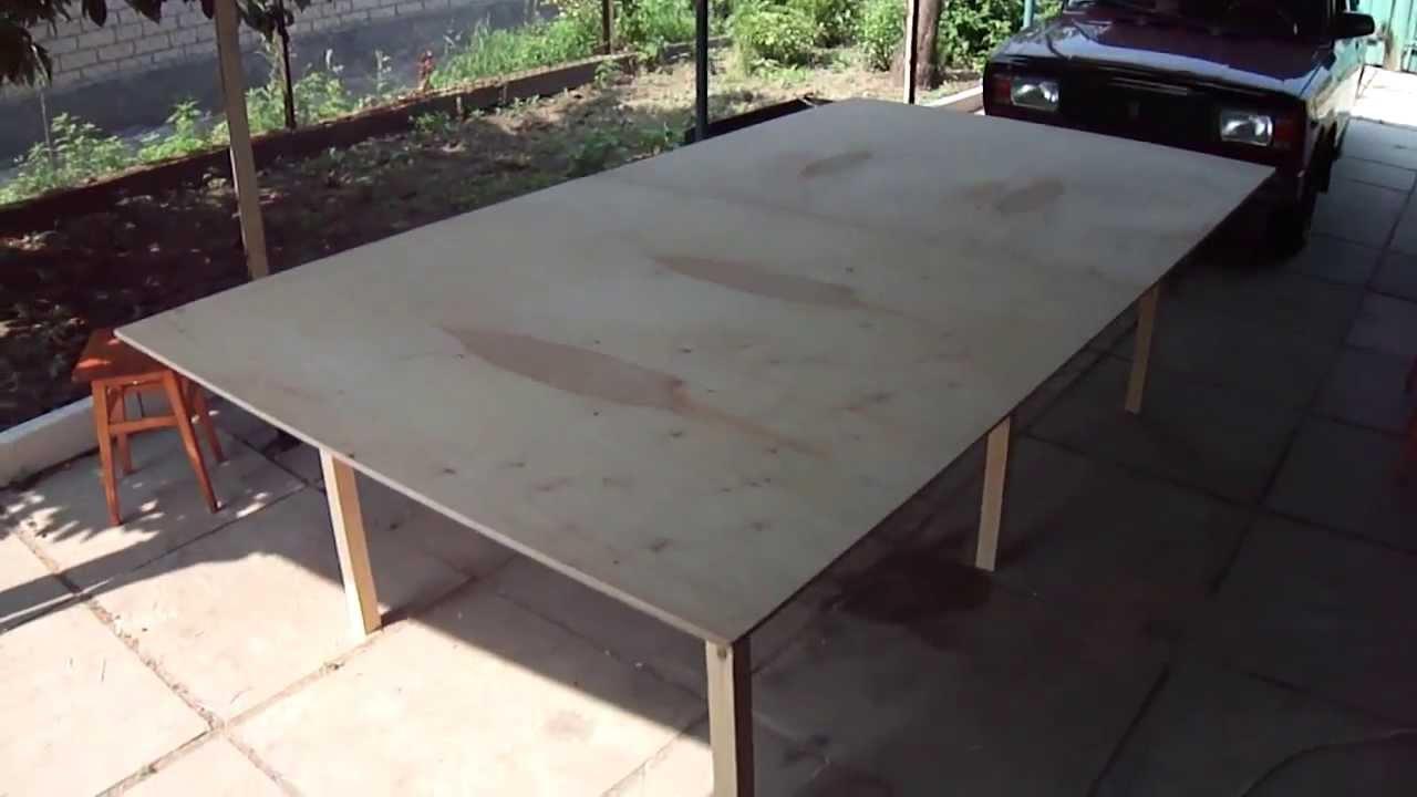Стол для настольного тенниса своими руками. - YouTube f78ab6fd8c0c5