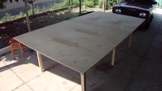 Стол для настольного тенниса своими руками.(, 2014-01-21T11:41:02.000Z)