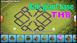 Anti giant base TH8 also anti PEKKA and wizared, by Lifestyle Maza