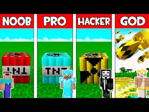 Minecraft - NOOB vs PRO vs HACKER vs GOD : SUPER TNT BATTLE in Minecraft ! AVM SHORTS Animation thumbnail