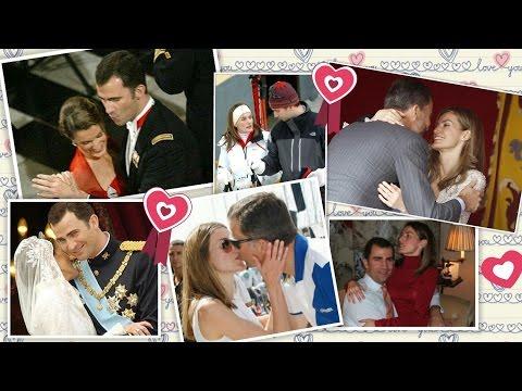 La reina Letizia y el Rey Felipe VI, dos reyes muy enamorados. Fotos íntimas de su Historia de amor.