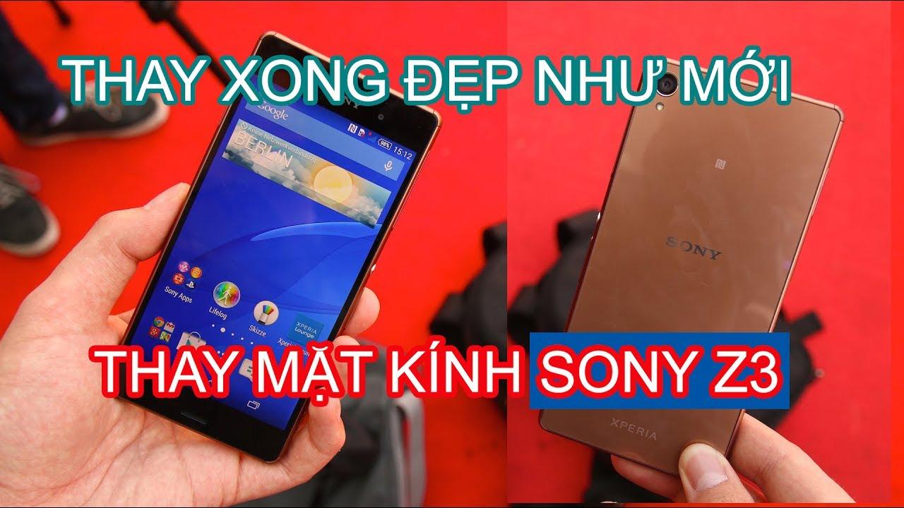 Kết quả hình ảnh cho Thay mặt kính Sony Z3