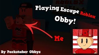 Playing Escape Roblox HQ Obby by Packstabber