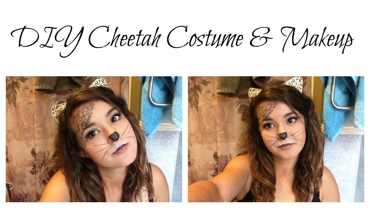 sc 1 st  YouTube & DIY Cheetah Costume u0026 Makeup - YouTube