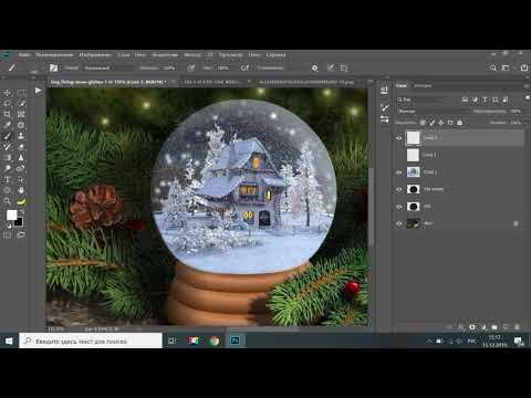 Как сделать новогоднюю Gif анимацию в фотошопе
