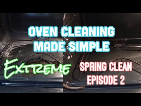 EXTREME SPRING CLEAN EPISODE 2    EASY OVEN CLEAN WITH BAKING SODA AND AMMONIA