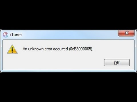 iTunes Error The iPad could not be restored. An unknown error occurred (14) (oxE8000065)