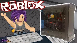 MY NEW PC GAMER + HACKEO ALL COMPUTERS ? FLEE THE FACILITY ROBLOX CRYSTALSIMS