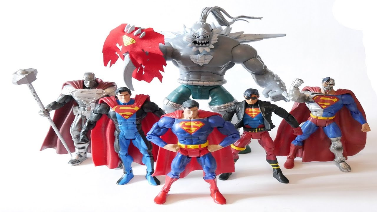 superman doomsday action figures