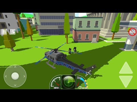 Craft Helicopter Blocky City Sky Rescue (by Yojoy Games) Android Gameplay [HD]