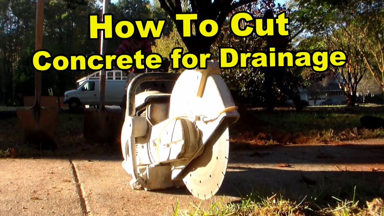 How To Cut & Install Drain in Concrete