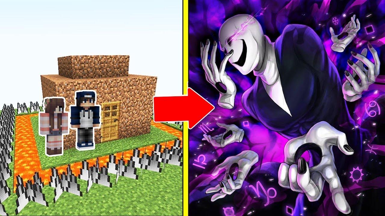 BÁC GASTER Tấn Công Nhà Được Bảo Vệ Bởi bqThanh và Ốc Trong Minecraft