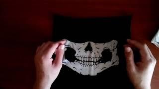 ОБЗОР поссылки из Китая: Чёрная балаклава с белым черепом, за 1$ Video