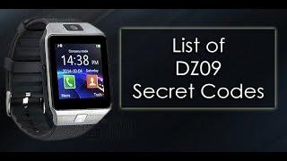 ALL THE SECRET CODES OF DZ09 SMART WATCH