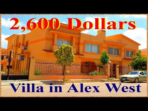 New 500m Luxury Semi-furnished Villa for rent in Alexwest Compound next to Carrefour in Alexandria
