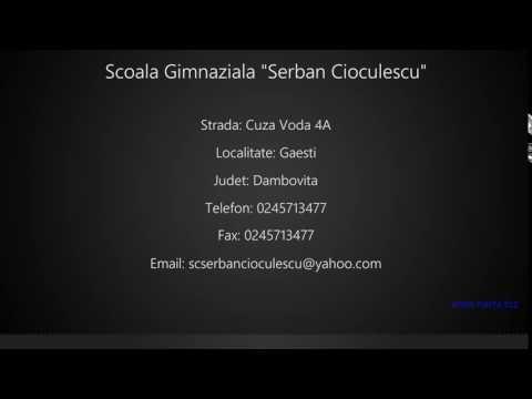 Scoala Gimnaziala Serban Cioculescu Gaesti Youtube