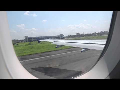 Indigo Airlines Airbus 320 taking off from Dibrugarh to Kolkata
