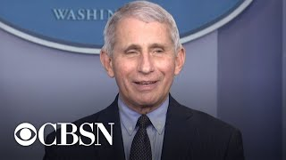 Dr. Anthony Fauci returns to White House press briefing to give update on COVID-19 response