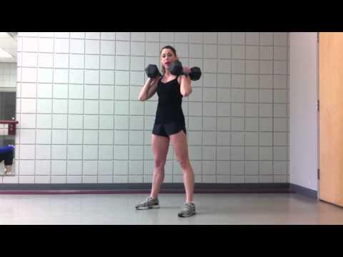 Dumbbell Thruster Demo - CrossFit