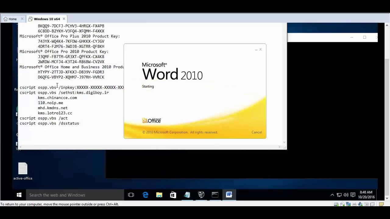 how to active office 2010 without license - YouTube