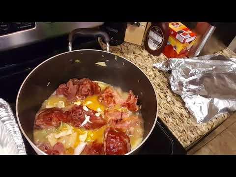 Cabbage Smoke Neck Bones  And Basic Oninon Gravy