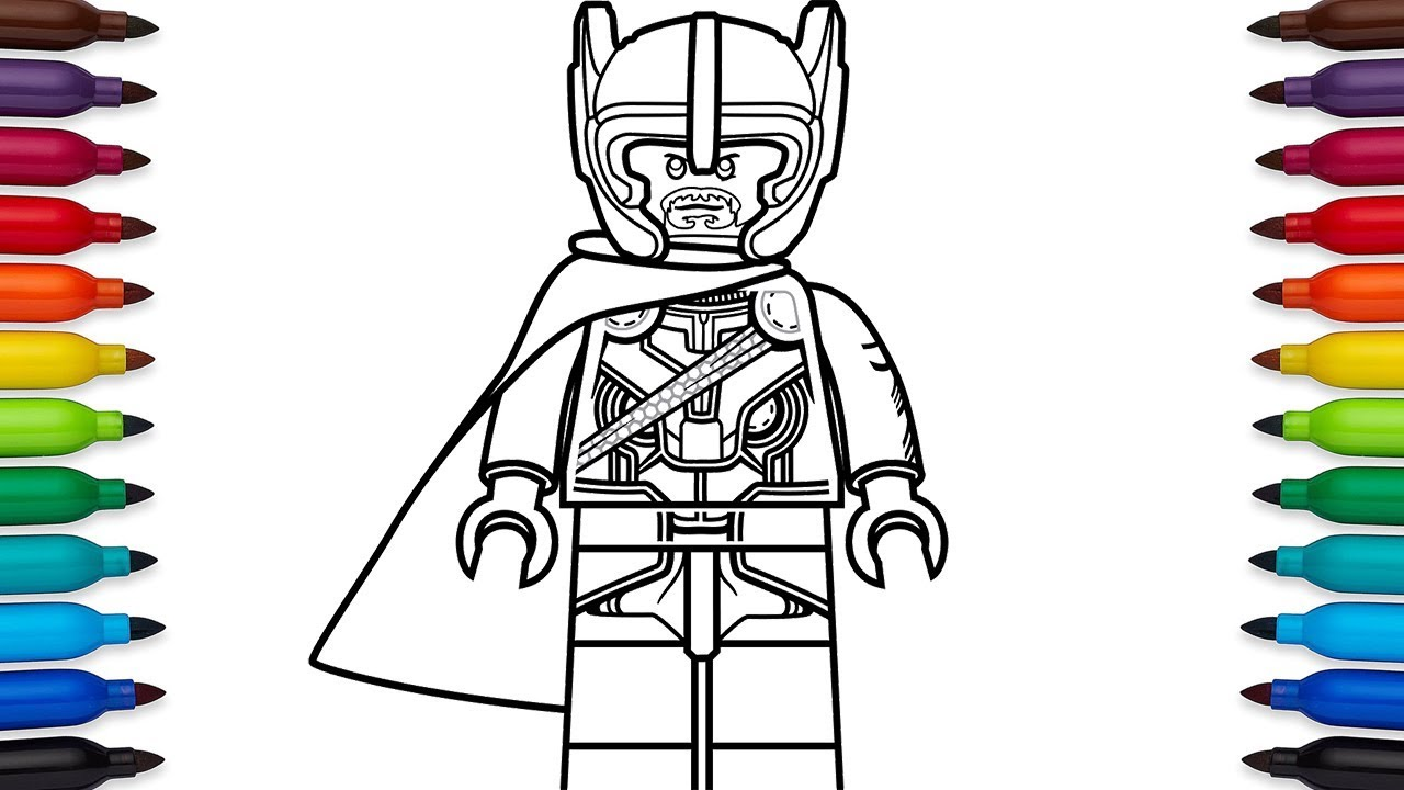 how to draw lego thor from marvel's thor ragnarok