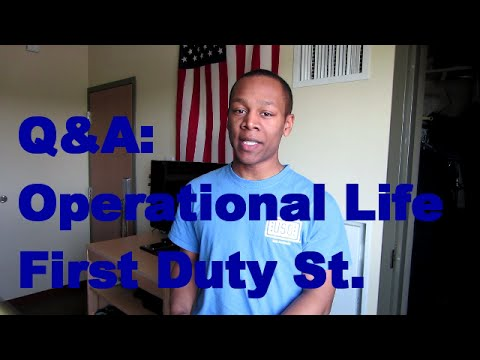 Air Force Q&A Operational Life, Arriving at Duty Station
