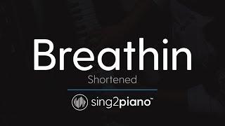 Breathin (Piano Karaoke Instrumental) Ariana Grande