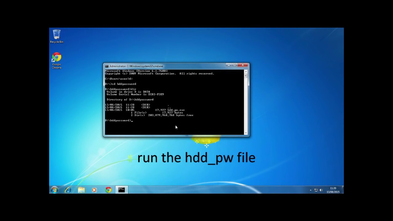 hard disk unlocker
