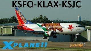 X-Plane 11 | We're back & we got a YOKE!! | B738 | PilotEdge | San Francisco, L.A. & San Jose!!