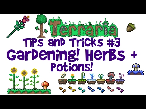 Terraria Gardening Guide! Mushroom, Herb, Potion Farm etc! (Tips & Tricks, 1.3 AND console/mobile!)