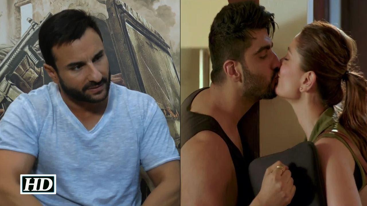 Kareena Saif caught kissing each other