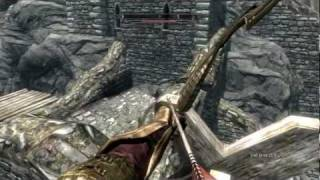 Skyrim - Giant attacking Whiterun