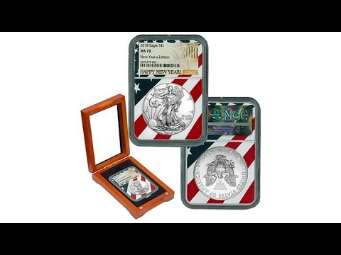 2018 MS70 NGC New Year's Edition Label Silver Eagle Coin