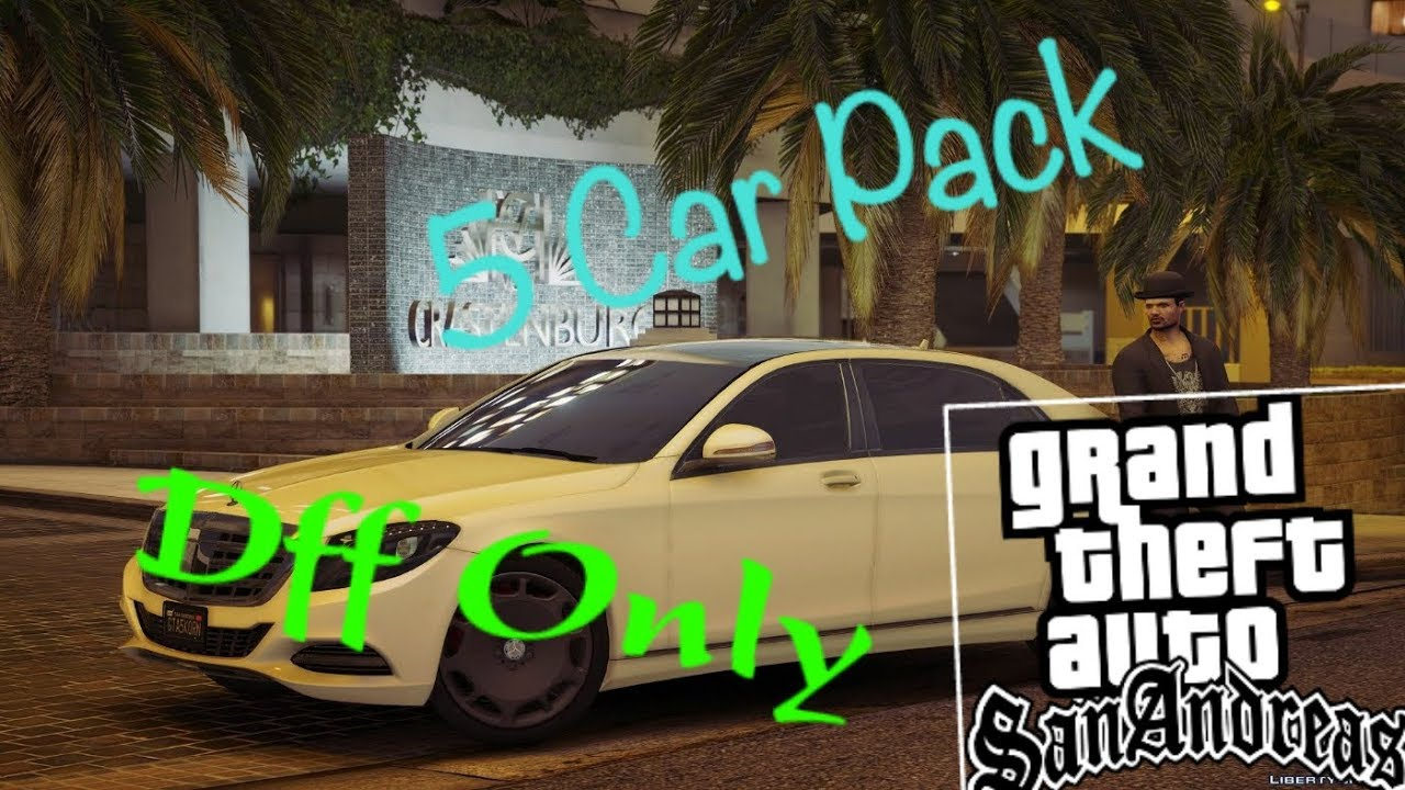 GTA SA ANDROID 5 Car pack no txd only dff by AzS Play
