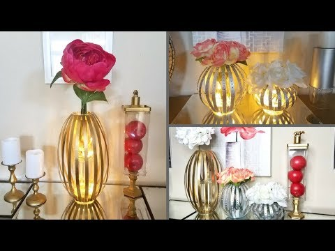 Diy Glass Vase| Glass Lamp Decor| Home Decorating on a Budget!