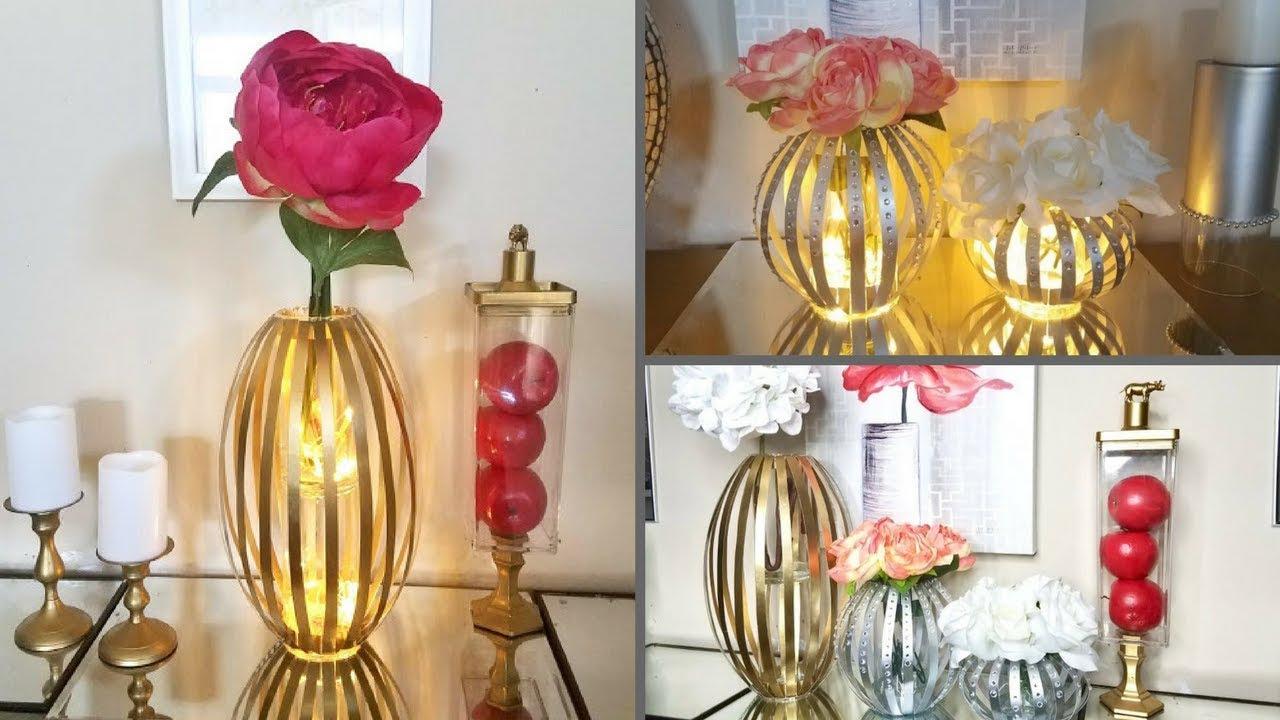 Diy Glass Vase| Glass L& Decor| Home Decorating on a Budget! & Diy Glass Vase| Glass Lamp Decor| Home Decorating on a Budget! - YouTube
