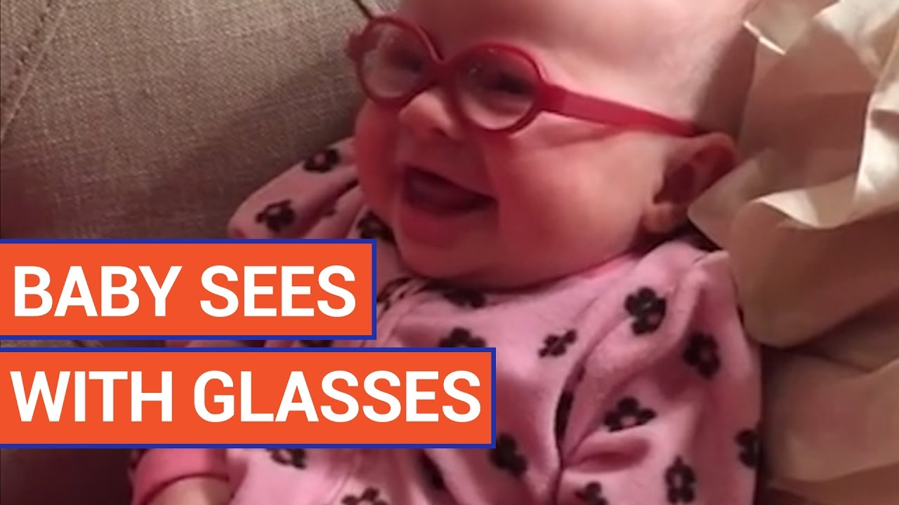 Cute Baby Sees Mom For The First Time With Glasses Video - Little girls reaction to seeing her parents clearly for the first time is adorable